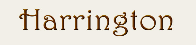 Harrington Typeface Sample