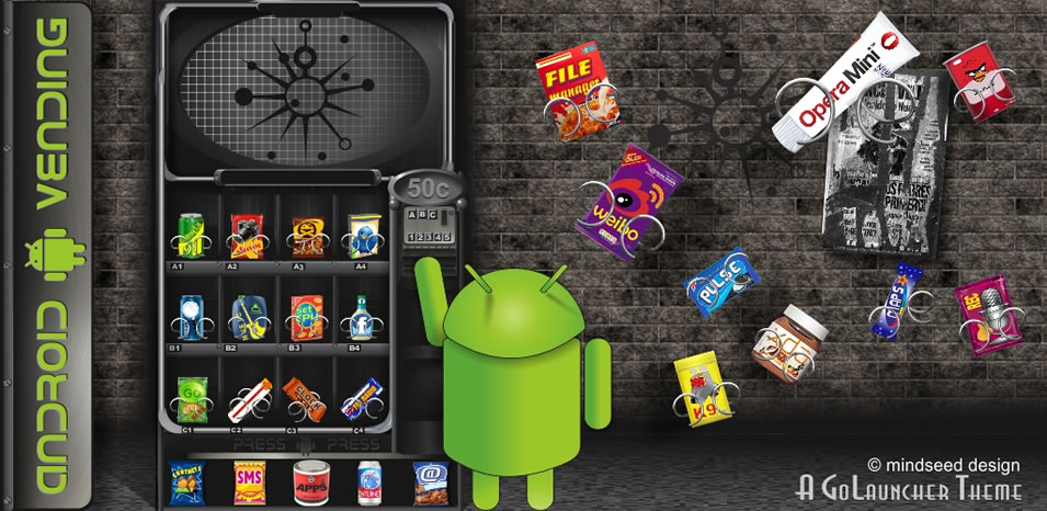 Android Vending Machine Go Launcher Ex Theme