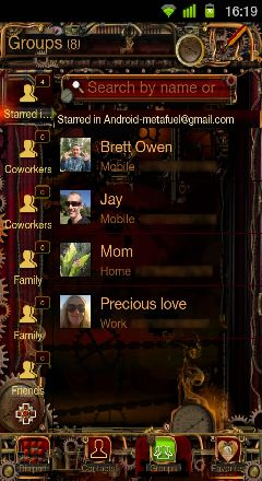 steampunk go contacts ex theme gallery by mindseed