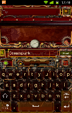 steampunk keyboard theme by mindseed design